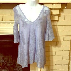 NWOT Periwinkle Lace top BKE size Med